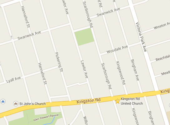 Kingston Road United Church Map