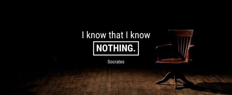 Socrates quote I know nothing