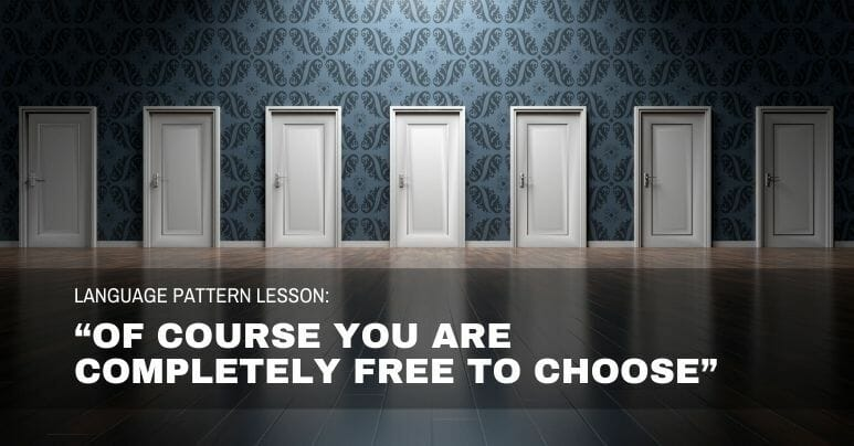 You are free to choose
